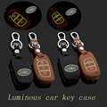Genuine Leather Car Key Case Fob Cover Fits forHyundai Mistra IX35 IX25 Santa Fe Remote Alloy Key Rings Car Keychain Holder bag