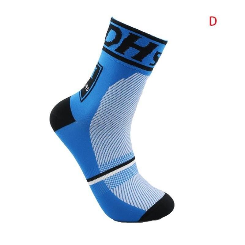 Носки для езды на велосипеде с буквенным принтом, уличные носки для бега, пешего туризма, велосипеда, баскетбольные Носки