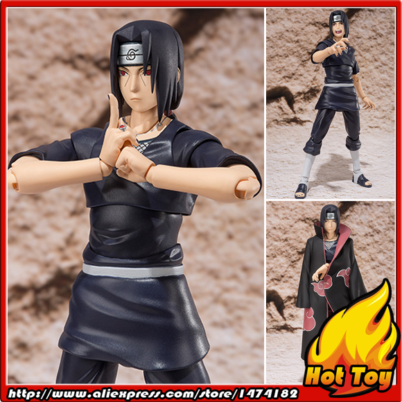 100% Original BANDAI Tamashii Nations S.H.Figuarts (SHF) Exclusive Action Figure - Uchiha ITACHI from NARUTO Shippuden pu short wallet w colorful printing of naruto shippuden uchiha itachi
