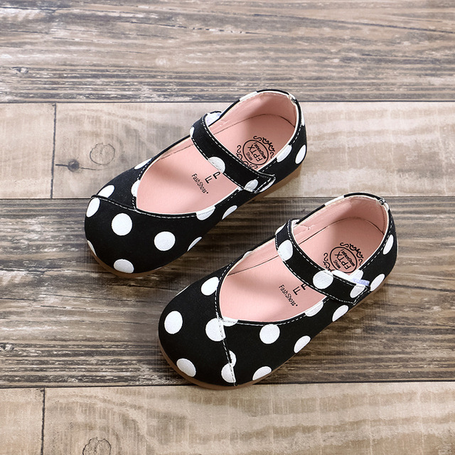 2018 Autumn new kid wedding shoes flat princess Circular point girl super perfect shoes Super soft and comfortable 1-8 years old Girl's Shoes