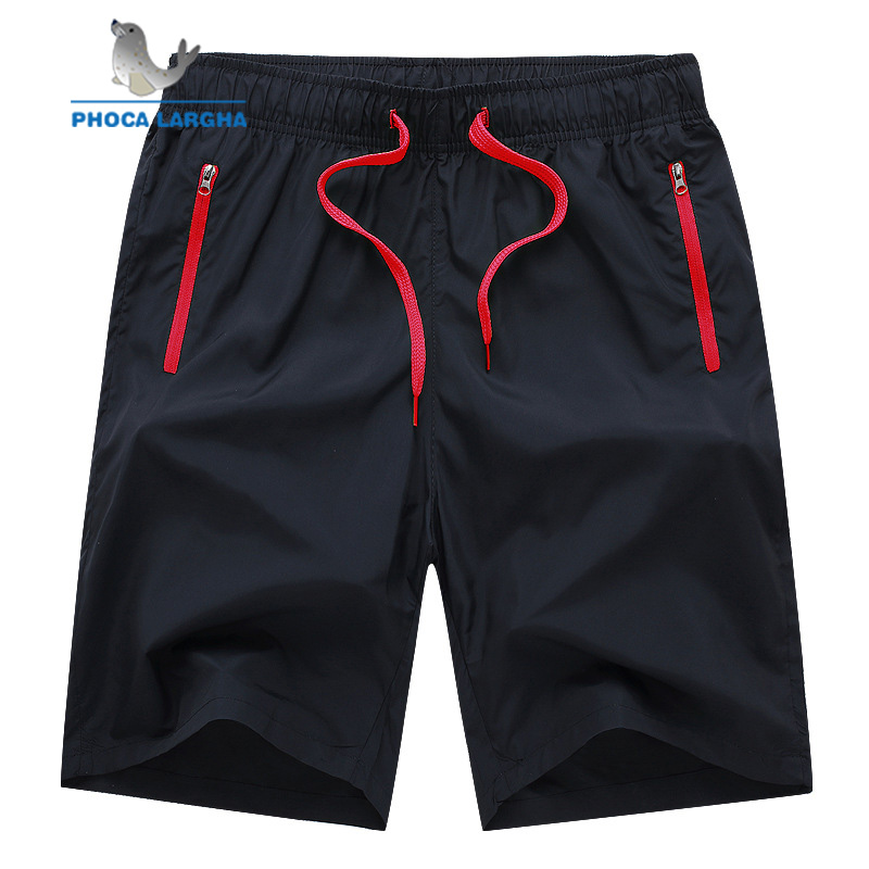 2019 Men's Fitness Shorts Man Casual Gyms Workout Male Breathable Zipper Quick Dry Sportswear Jogger Beach Short Pants 4XL