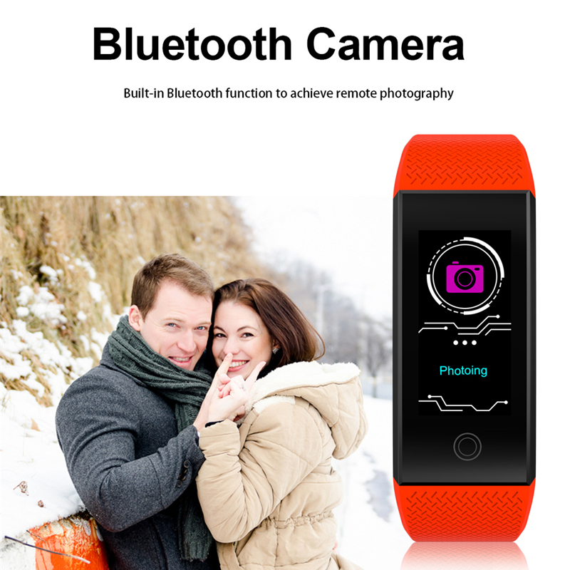 BW Fitness Smart Bracelet weather Heart Rate Monitor Blood Pressure Fitness Tracker Smart band Sport Watch for ios android Swim 4