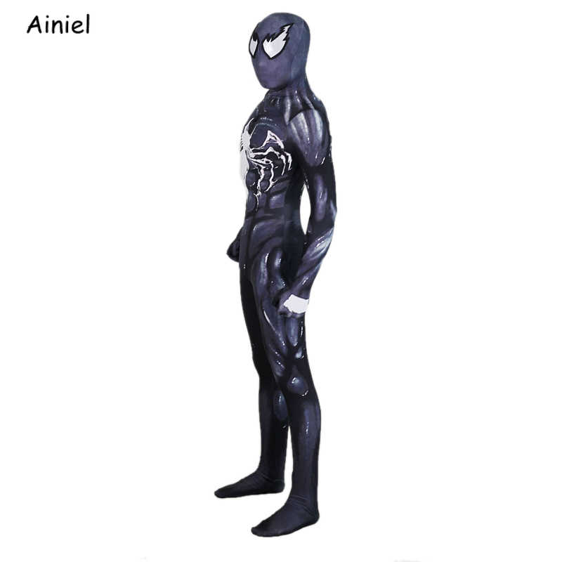 MARVEL VENOM คอสเพลย์เครื่องแต่งกาย Man Spider ชุด Zentai ผิวแน่นชุด VENOM หน้ากาก Jumpsuit Spiderman Lycra บอดี้สูทฮาโลวีน