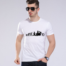 Men's Summer Motorcycle Evolution Theory t-shirt Casual Brand Clothes Motorcycle Men T-shirt Tee Top Quality Moe Cerf H8-39#