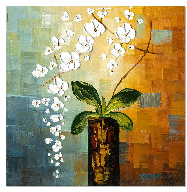 Wieco Art Beauty of Life 100% Hand painted Modern Canvas Wall Art ...
