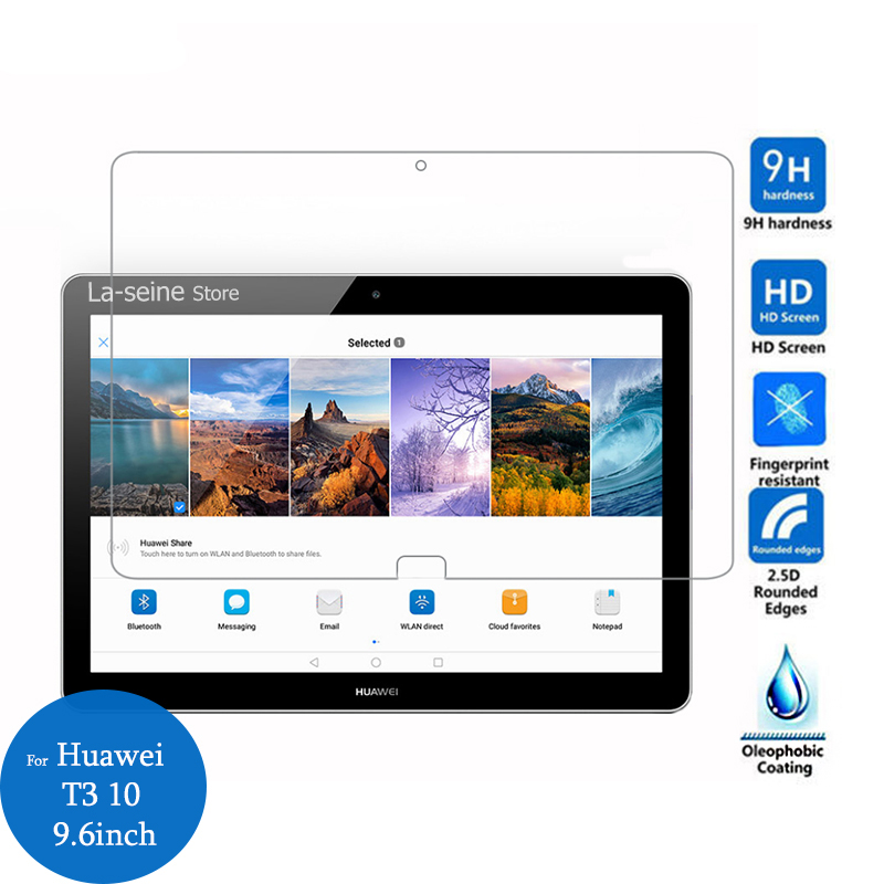 CLEAR Tempered Glass Screen Protector for HUAWEI MediaPad T3 10 AGS-W09 L09 L03