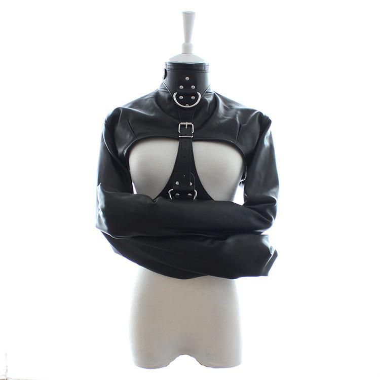 leather male sex clothes armor fetish slave collar handcuffs bdsm bondage restraints chastity belt adult sex toys products