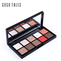 10 Colors Eyeshadow Palette Mineral Powder Nake Smoky Eye Shadow Nude Matte Shimmer Eyeshadow Contouring Makeup Brand GOGO TALES