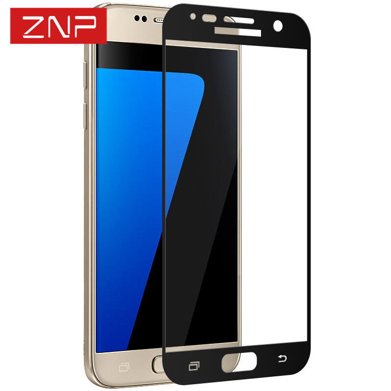 ZNP 9H Premium Full Cover Tempered Glass For Samsung Galaxy S7 0.3mm High Quality Screen Protector Film For Samsung S7 Glass