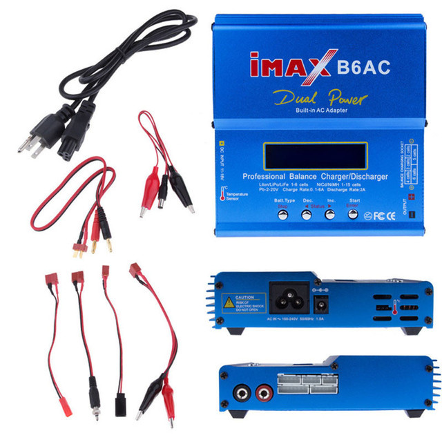 Factory wholesale New iMAX B6 AC B6AC Lipo NiMH 3S/4S/5S RC Battery Balance Charger + USplug power supply wire