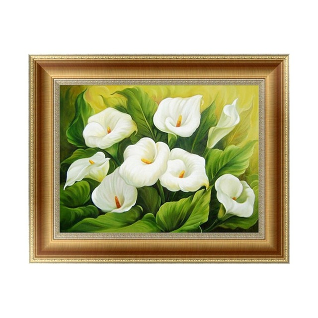 New DIY 5D Diamond Painting Calla Lily Embroidery Cross Stitch Kit Craft Home  Decor APR19