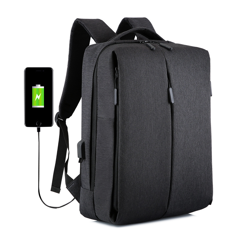 Business Backpack 15 Inch Laptop Water-Resistant with USB Port Charging Travel Backpack Men Women image