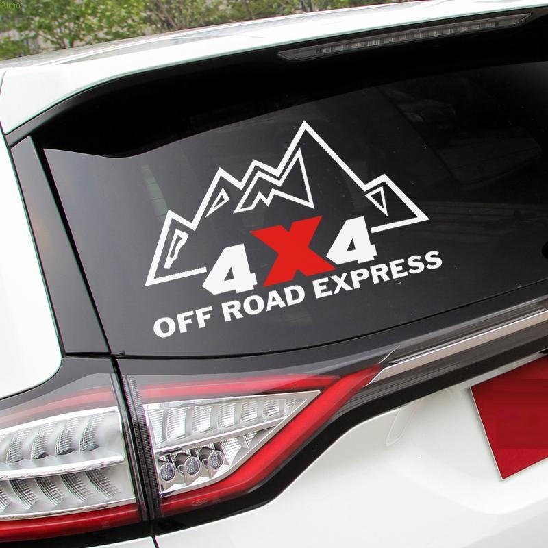 "4x4 ""OFF ROAD EXPRESS"" dizaino logotipo automobilinis lipdukas JEEP WRANGLER / AUDI A6L / Q7 ir tt"