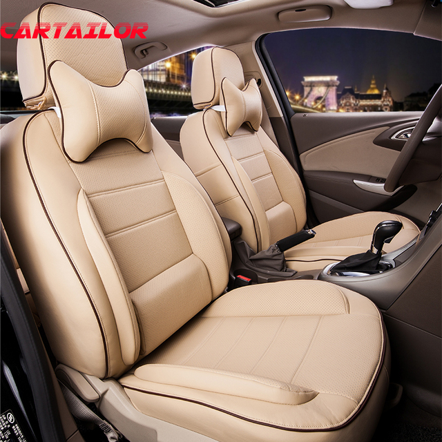 CARTAILOR Cover Seats For Toyota Wish Car Seat PU Leather Covers Set Auto Accessories