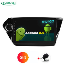Funrover 2 грамма Android 8,0 dvd-плеер автомобиля gps для Kia rio 2010 2010 в тире приборной панели радио видео плеер лента recoreder 1024*600