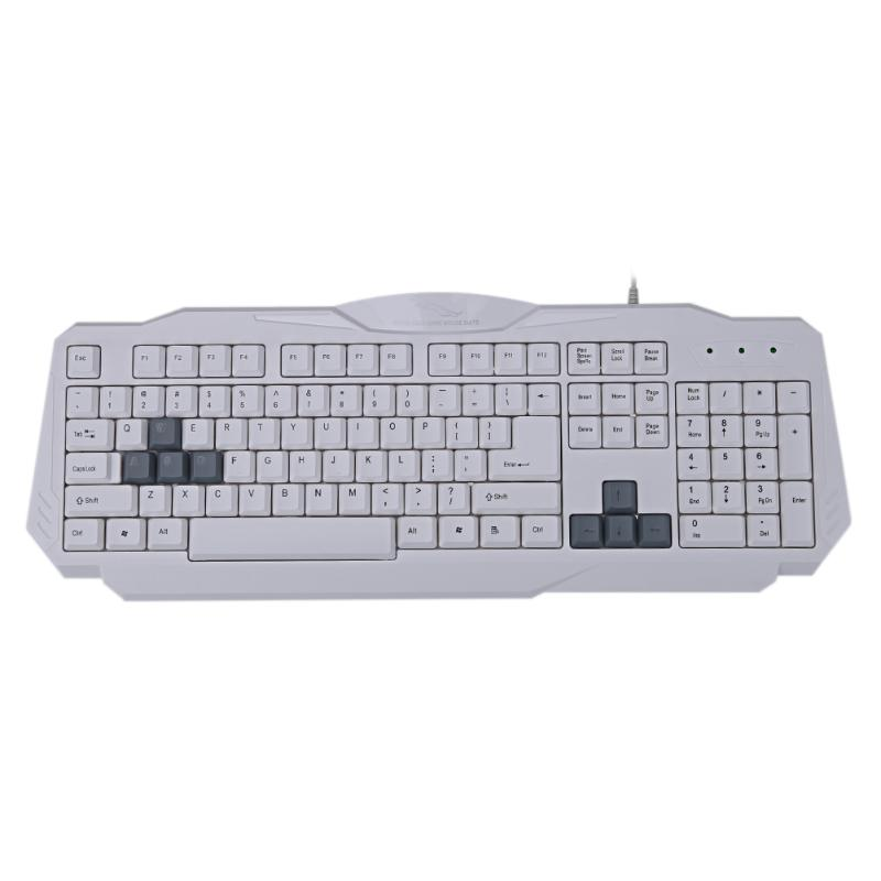 108 Keys USB Wired Game Light Weight Keyboard Home Matte Feel Surface Computer Gaming Keypad for Desktop Laptop