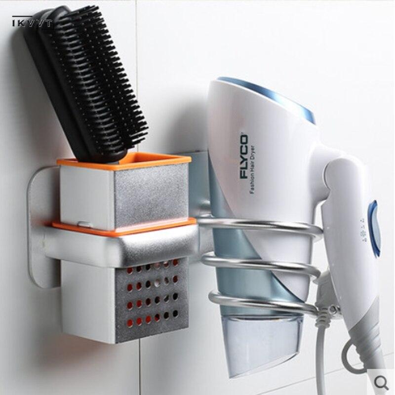 Hair Dryer Holder Hair Blow Dryer Holder Dryer Organizer Shelf Rack Stand Adhesive Storage Cup Bathroom Shelf Organizer Shelf