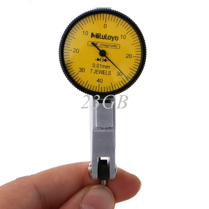 2017 NUOVO Indicatore di Livello Scala Metrica Guide A Coda di Rondine Dial Indicator Test di Precisione 0-0.8mm APR07_17