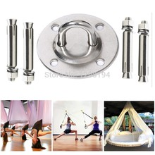 Ceiling Wall Mount Anchor Suspension Bracket Hook For Trx Gym Rings Crossfit Yoga Hammock Swing Hanging Chair(China)
