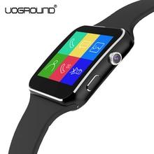 Nuevo X6 Reloj Inteligente Reloj Del Deporte con el Soporte de La Cámara Tarjeta SIM Para Apple IPhone Android Teléfono
