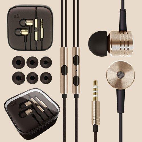 100% original xiaomi 2nd pistón auricular 2 ii auricular con el telecontrol y el Mic Para MI4 MI3 MI2 MI2S MI2A Mi1 teléfono