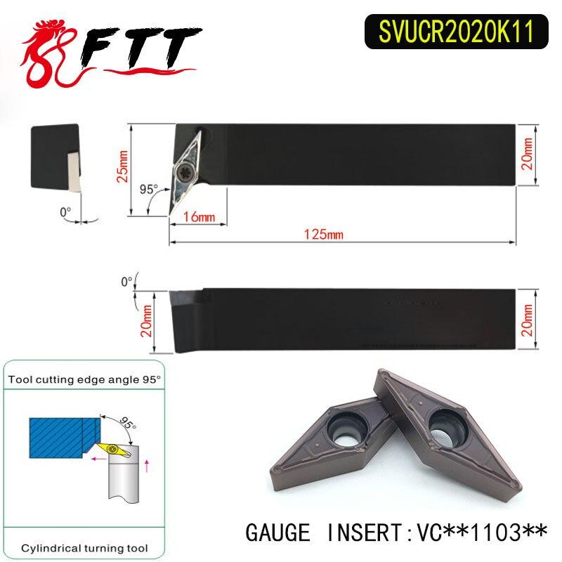 SVUCR2020K11 95 Degrees  External Turning Tool Holder For VCMT110304 VCMT110308 Used on CNC Lathe Machine