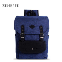 ZENBEFE Unisex Backpack For Student Leisure School Bag For Teenager Durable Laptop Backpacks Linen Travel Bag
