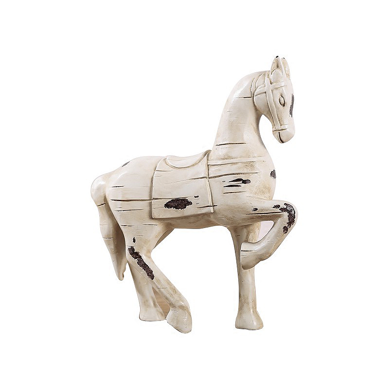 Vintage Resin Horse Ornament Figurine Crafts American Horses Home Decoration Accessories Trojan Creative Business Wedding Gifts