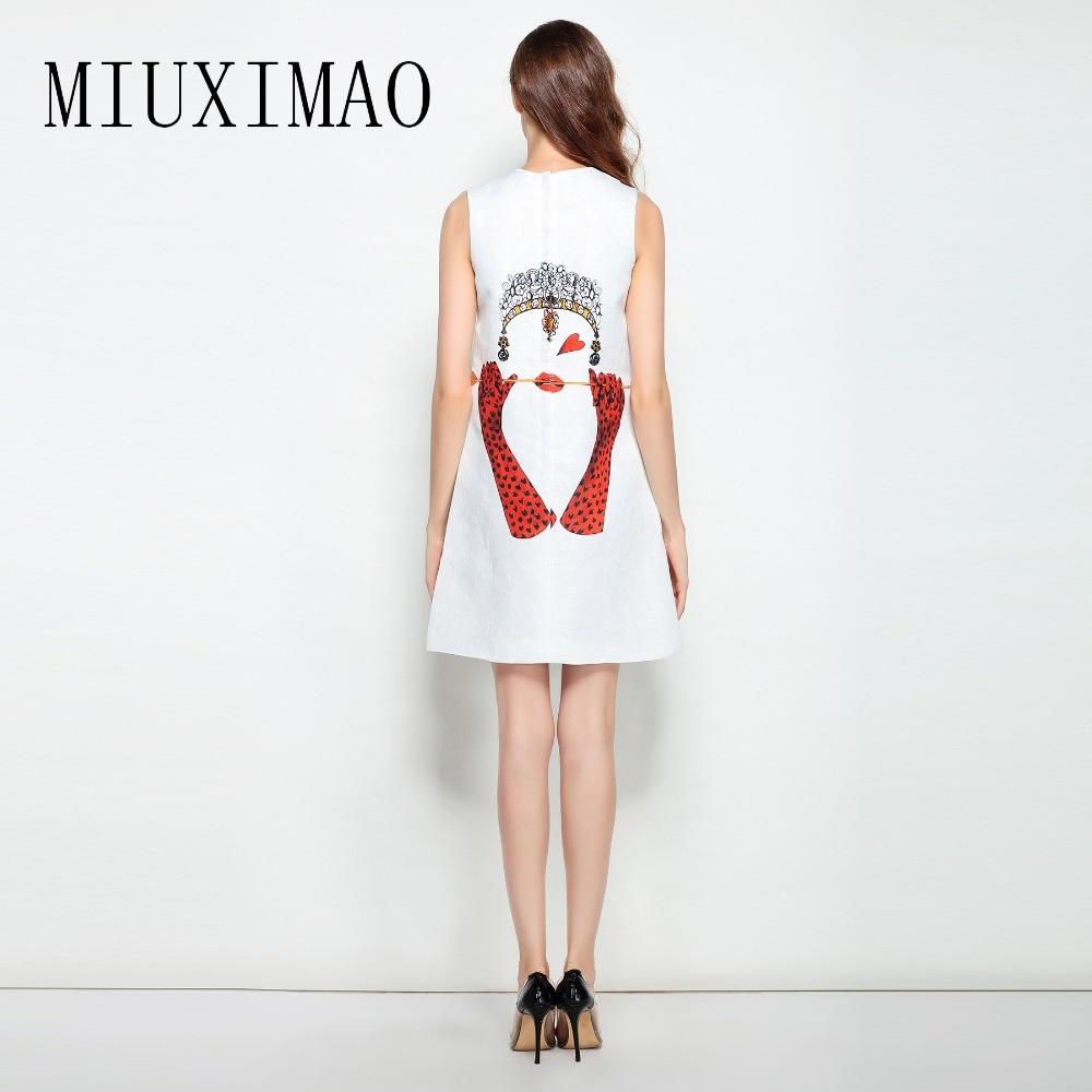 2018 Moda Mujeres Y Impresión line Sin De A Encima Tank Por O Nuevo Verano  Primavera Elegante cuello Mangas Corazón Vestido ... 89a58509de22