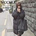 MCCKLE espesar caliente Parkas Chaqueta Con Capucha 2016 Otoño Invierno de Gran Tamaño Negro Womans Abrigos Chaquetas Con Capucha de moda outwear