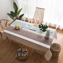 Modern Decorative Table Cloth Tassel Lace Edge Rectangle Tablecloth Home Kitchen Table Cloths Party Banquet Dining Table Cover