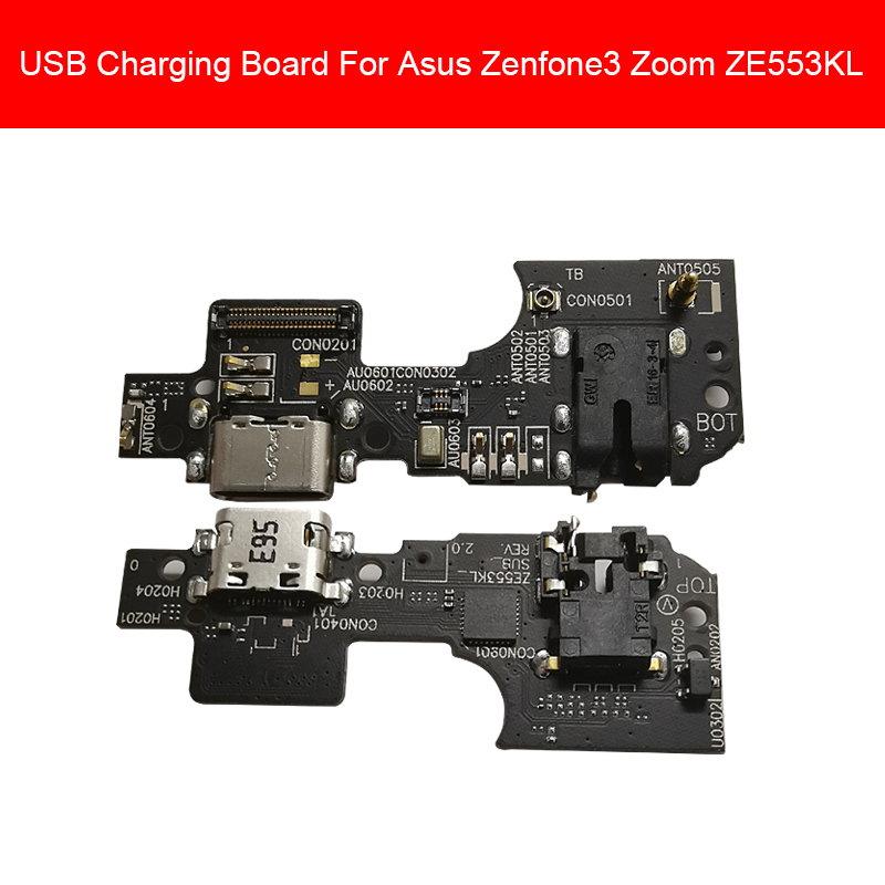 USB Charging Jack Port Board For Asus Zenfone3 Zoom ZE553KL Z01HD Charger Dock Plug Connector Board Replacement Parts