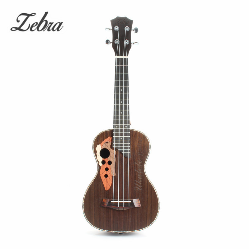 Zebra 23'' Acoustic Rosewood Concert Ukulele Uke 4 Strings Electric Bass Guitar Guitarra for Musical Stringed Instruments Lovers bluerise modern outdoor umbrella garden patio sunshade 6 bones folding advertising beach garden tent umbrella villa garden
