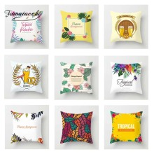 Fuwatacchi Watercolor Floral Cushion Cover Colorful  Soft Throw Pillow Decorative Sofa Case Pillowcase
