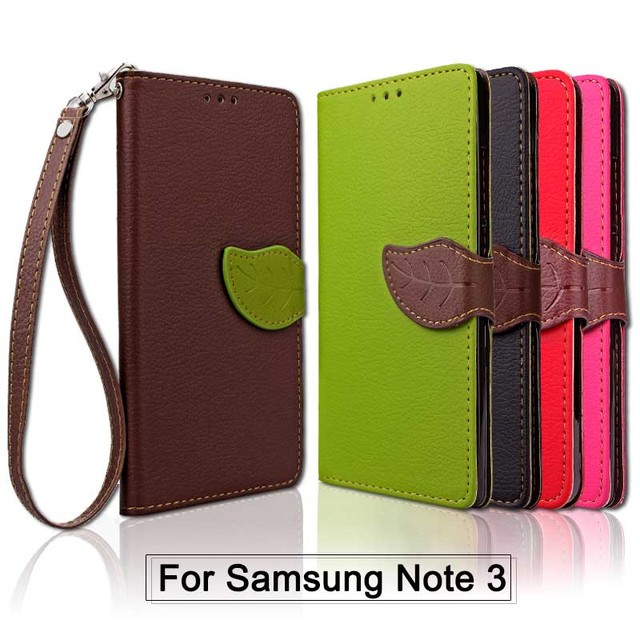quality design 57bfc fdcc0 US $4.19 |For Samsung Galaxy Note 3 Case Cover Samsung Galaxy Note3 PU  Leather Leaf Flip Wallet Case for Samsung Note 3 Phone Coque Fundas-in  Wallet ...