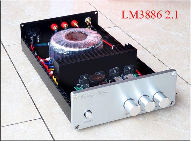 2017 Breeze Audio Wind Upgrade LM3886 BA1 2.1 channel subwoofer bass home audio amplifier