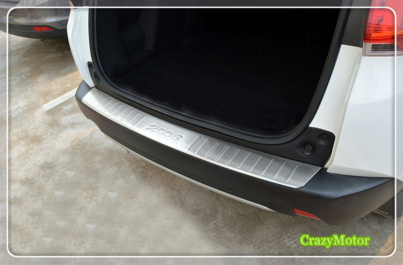 1pcs stainless Outer Rear Bumper Protector Sill Trunk Trim accessories For PEUGEOT 2008 2014 2015 2016 2017 car styling