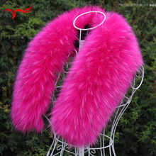 Imitation fox raccoon furry collar hat winter new faux fur fake fur collar scarf down jacket cap coat collar winter female(China)