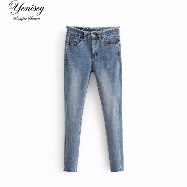 חג רוח 55-6275 אירופאי ואמריקאי אופנה מותניים למתוח מים-שטף ג 'ינס רגל קטנה