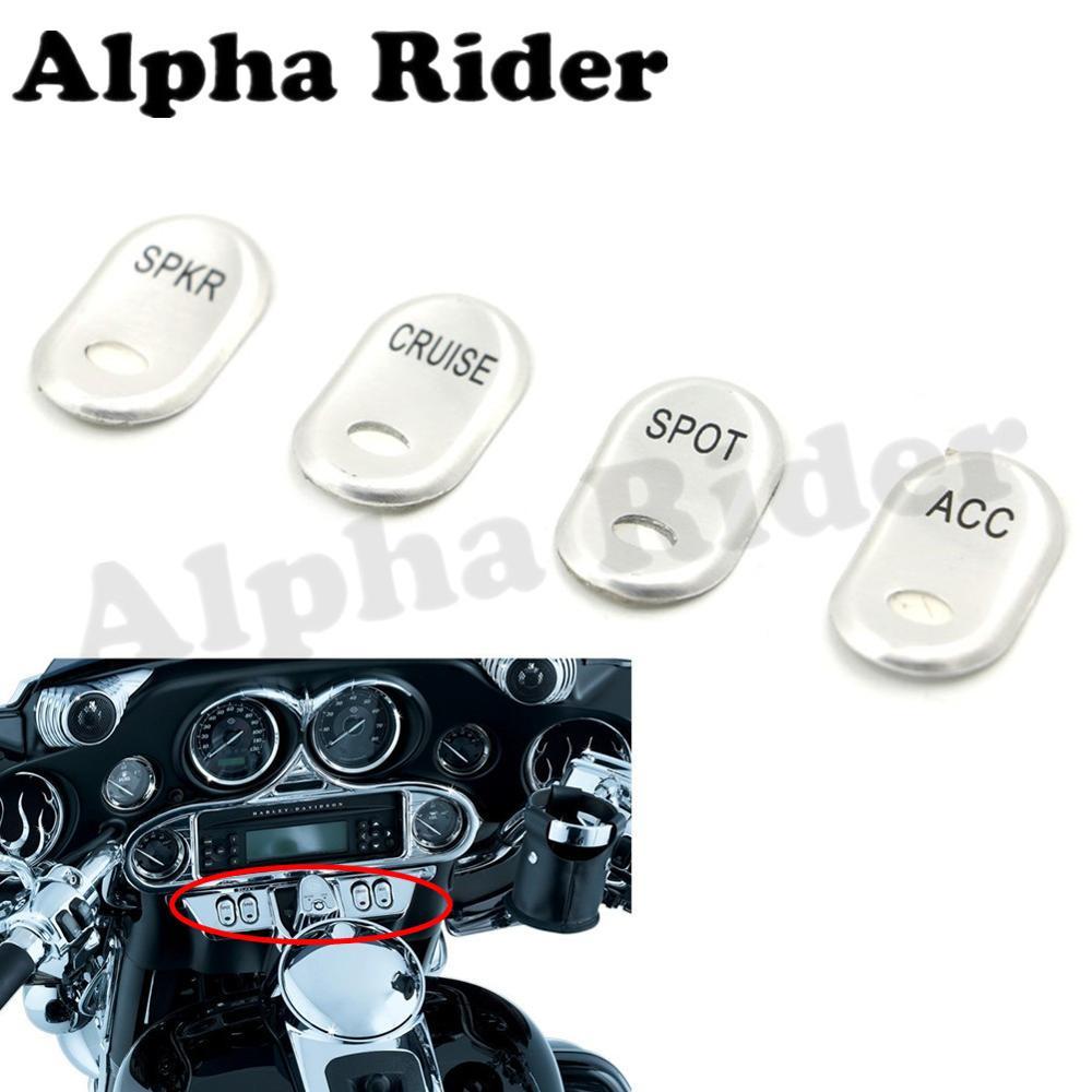 JenNiFer Chrome Brushed Rocker Switch Cover For Harley Electra Glide FLHTCU 1996-2013