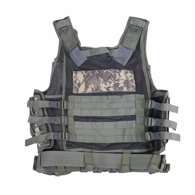 Us 55 46 Yakada Police Tactical Vest Outdoor Military Body Armor Wear Hunting Vest Army Swat Molle Vest Camouflage Army Green Color In Hunting Vests