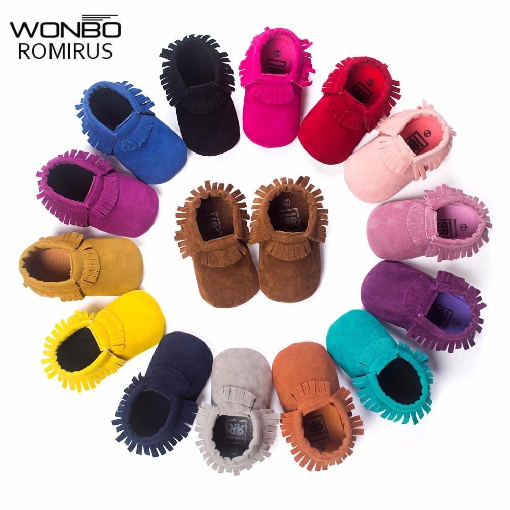 Hot PU Suede Leather Newborn Baby Boy Girl Baby Moccasins Soft Moccs Shoes Bebe Fringe Soft Soled Non-slip Footwear Crib Shoe