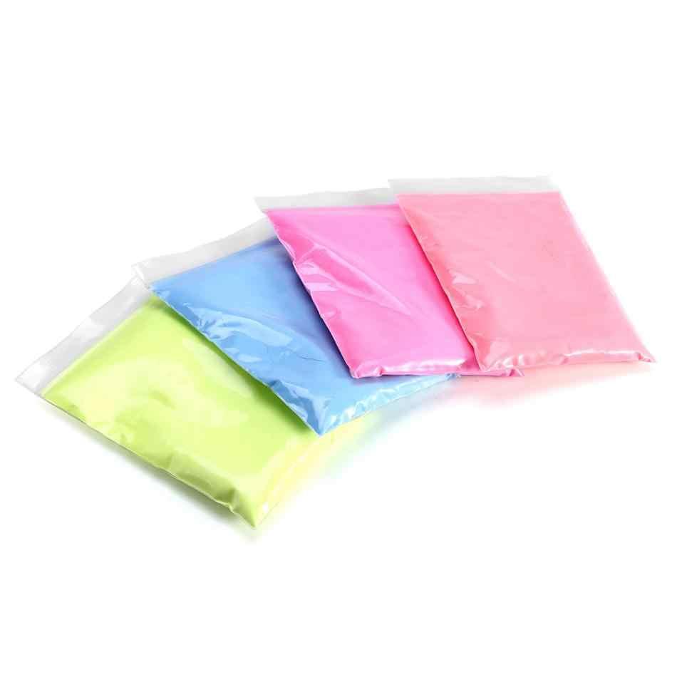 4 สีเรืองแสงเล็บGlitterผงสีDIY Pigmentเล็บเคลือบเรืองแสงPhosphorผงฝุ่น