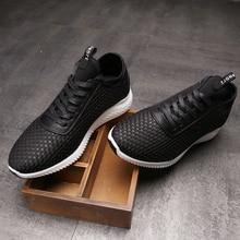 Mapleliz мужская повседневная обувь брендовые Осенние новые Кружева на шнуровке мужские туфли на плоской подошве Модные дышащие удобные черный мягкий свет Обувь для мужчин
