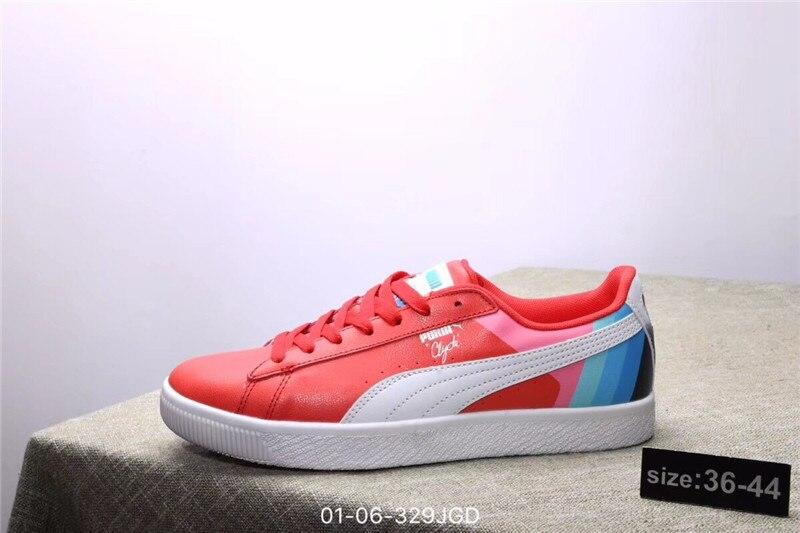 4a8f358cefa Puma chaussures PUMA Dauphin PUMA Clyde Rose Dauphin Commun Chaussures Blanc  Rouge size36 44 dans Badminton Chaussures de Sports et Loisirs sur ...