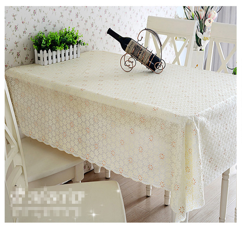 Quality PVC Tablecloth Dining Table Plastic Cover Coffee End Table