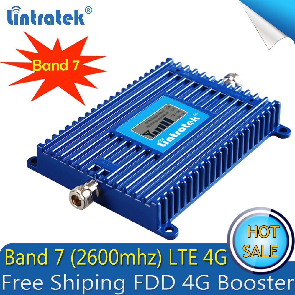 Freies verschiffen 4g LTE 2600 ALC Handy Signal Booster AGC 70dB FDD LTE 2600 4g Cellular Smartphone Signal repeater 4g Verstärker