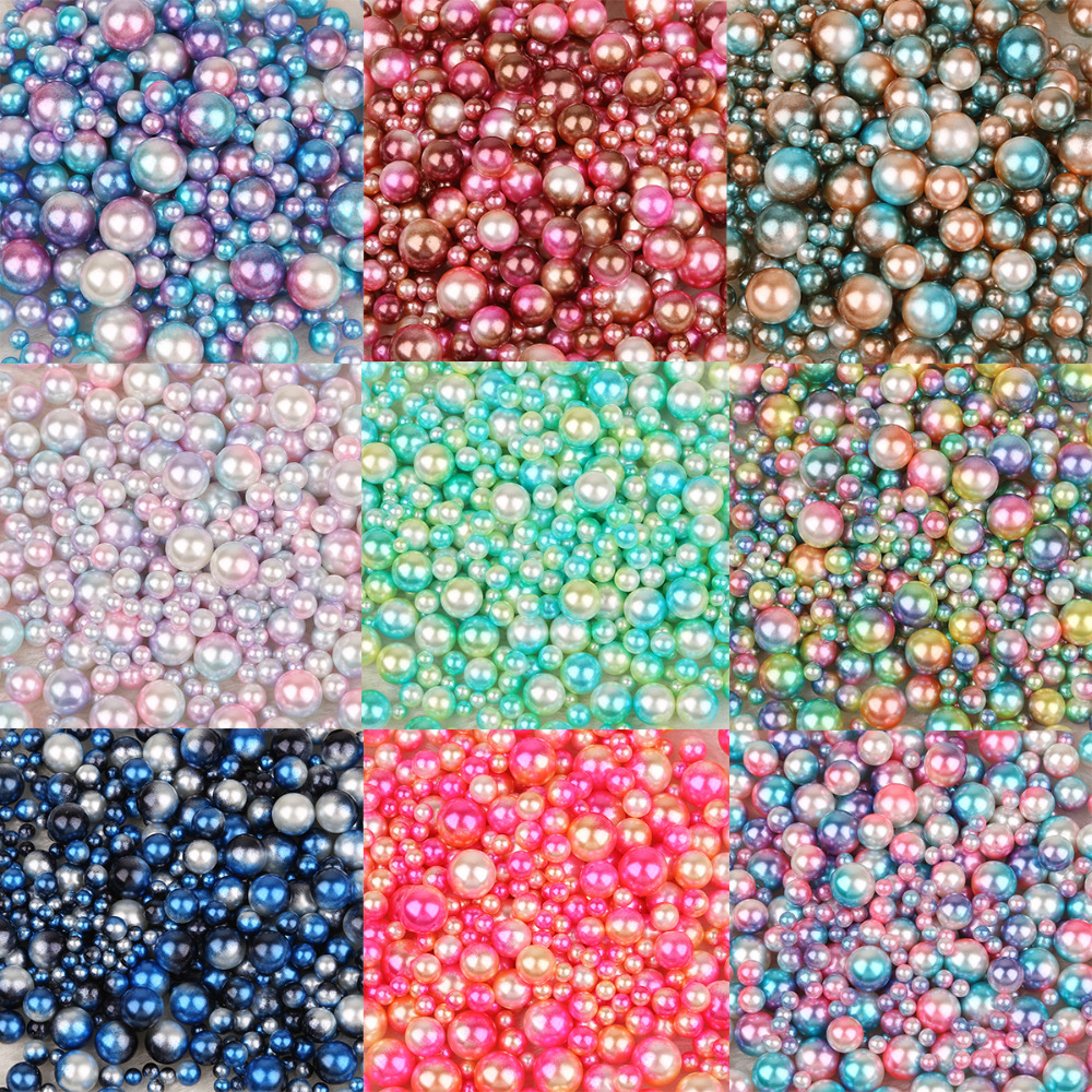 4/6/8/10 мм Multi размер вариант около шт./лот случайная смесь цветов без отверстий жемчуг круглый бусины для DIY Craft украшение для скрапбукинга