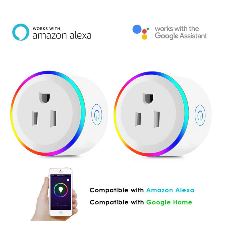 Heimwerker Steckdosen & Zubehör Heißer Smart Stecker Wifi Smart Wireless Buchse Power Monitor Uns Jp Stecker Outlet Arbeitet Mit Google Home Mini Alexa Wireless Pop Buchse