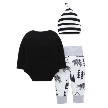 Baby Boy Clothes 2019 New Arrival Little brother Tops bodysuit+Animal Pants+Hat 3 Pieces suits Infant Babe Boy Clothing sets